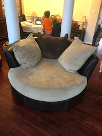 Sectional, round chair, and ottoman Centreville, 20120
