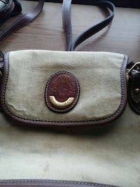 brown and gray crossbody bag