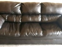 Brown leather couch $50.00 Barrie, L4N 1L9