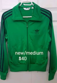 green and black adidas zip-up jacket Edmonton, T5T 1A3