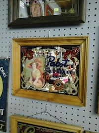 Pabst painting on brown wooden frame Victoria, V9B 6G3