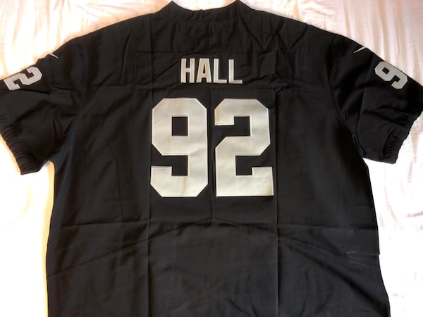 sports shoes 9be2c 0c65f 4XL Raiders PJ Hall Jersey (New, men's 4XL, stitched) firm on price