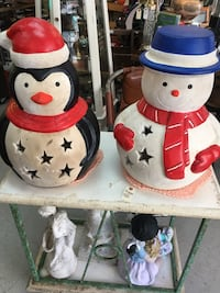 Jolly snowman and jolly penguin 19 inch