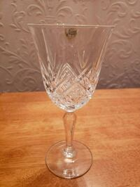 French crystal wine glass