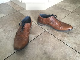 B2 LEATHER HAND CRAFTED BROWN SHOES SIZE 43