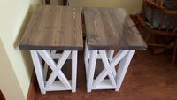 2 Rustic Farmhouse End Tables / Night Stands St. Catharines, L2P 3C4