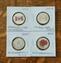 2015 Canadian coloured quarters Abbotsford, V2T 2S6