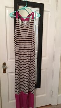 gray and black sleeveless maxi dress Greeleyville, 29056