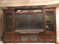 Solid wood entertainment center 49 km