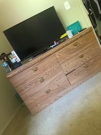 brown wooden 2-drawer chest Temple Hills, 20748