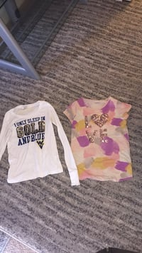 White and pink crew neck long sleeve shirt each and I have more Annandale, 22003