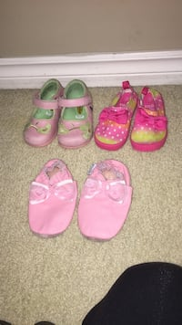 Toddler's shoes see details for sizes by photo Coquitlam, V3C 3L1