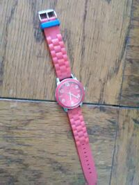 round pink analog watch with pink strap Washington, 20019