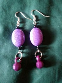 pair of pink beaded hook earrings Lexington, 40508