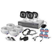 Swann  DVR 720P / 500GB / 4 x Pro T835 Cameras Surveillance security Kit An advanced and easy to use surveillance system with 720p HD high definition video to see and protect your premises Set and forget by recording from 4 channels for 105 days+ onto a 5 San Fernando, 91345