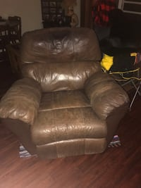 brown leather recliner sofa chair Casper, 82604