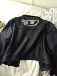 Diesel black leather jacket Ontario, M2J 4T6