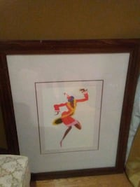dancing woman painting with brown frame Whitby, L1R