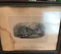 Black wooden framed painting of house Silver Spring, 20904