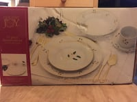 Holiday Joy 45 Piece Dinnerware Set Ajax, L1T 1V1