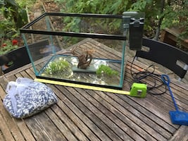20 Gallons Fish Tank with accessoires