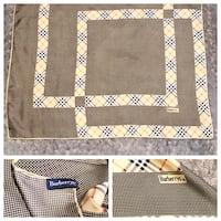 Burberry printed silk Scarf paid $320 good condition! Has 3 small (less then dime size) stains around the same area other then that great condition. Can be worn many ways!