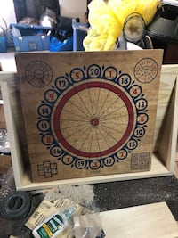 Wooden Dart Board with Baseball game on back  139 mi