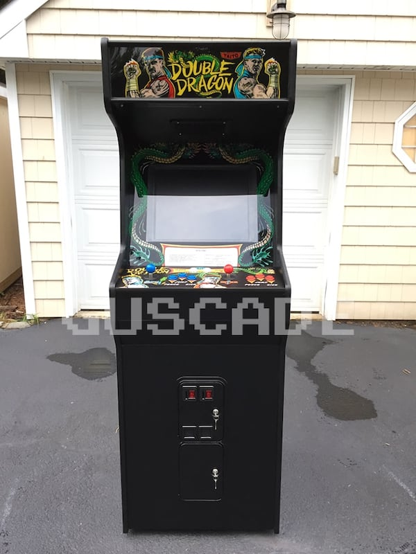 Used Double Dragon Arcade Machine New Full Size Plays Several