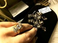 NEW A SIZE 7 GOLD Cz Ring 30$ & Earrings $15. SALE* Ladson, 29456