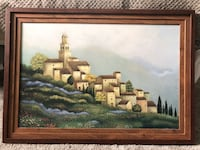 Tuscan village artwork in frame Woodbridge, 22191
