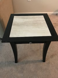 square black wooden side table Durham, 27713