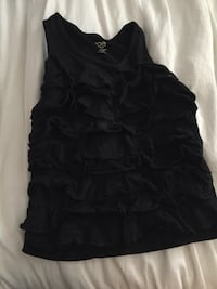 Kids or lady's xxs black sleeveless top
