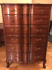 Brown Solid Wood 5-Drawer Tallboy Dresser Rockville, 20850