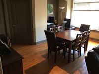Dining table with 5 chairs set!