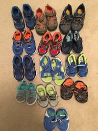 13 pairs of boy shoes  < 1 mi