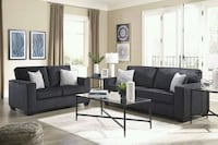 brown and black living room furniture set Houston, 77036