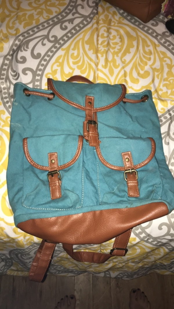8c83231d5bd8 Used blue and brown leather handbag for sale in Louisville - letgo