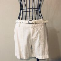 Women's white linen shorts with belt (new) Alexandria, 22315