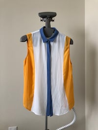 White and blue tank top (never worn) Jersey City, 07302