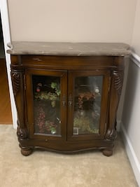 Lighted Wine Cabinet with Granite Top Contents are not included