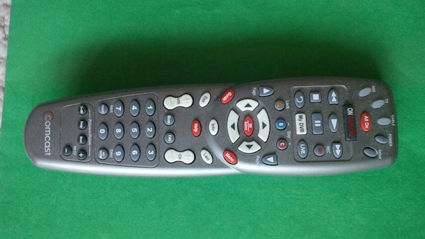 gray TV remote control