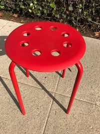 Red ikea stool- like new - delivery available today! Los Angeles, 90007