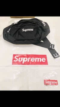 black and white Supreme fanny pack Los Angeles, 91402