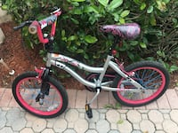 Monster high pink and white bicycle for 6 years old Medley, 33178