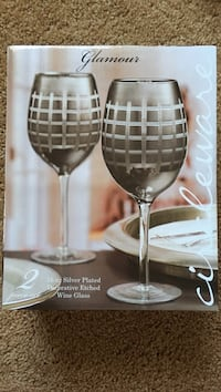 Glamour decorative etched wine glass box Columbia, 21044