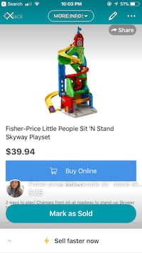 multicolored Fisher-Price Little People Sit 'n Stand skyway playset screenshot Toronto, M1E