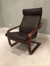 IKEA Poang brown Leather & Wood Chair Calgary, T2E 0H4