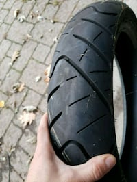 Front and back motorcycle tires 1% used 99% to go Toronto, M9C 3R9