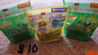 two Gain and Tide detergent packs Frederick