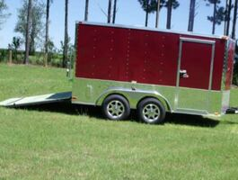 Electric brakes2012 Colonys 7x14 Enclosed Trailer Side Door Is Really Wide